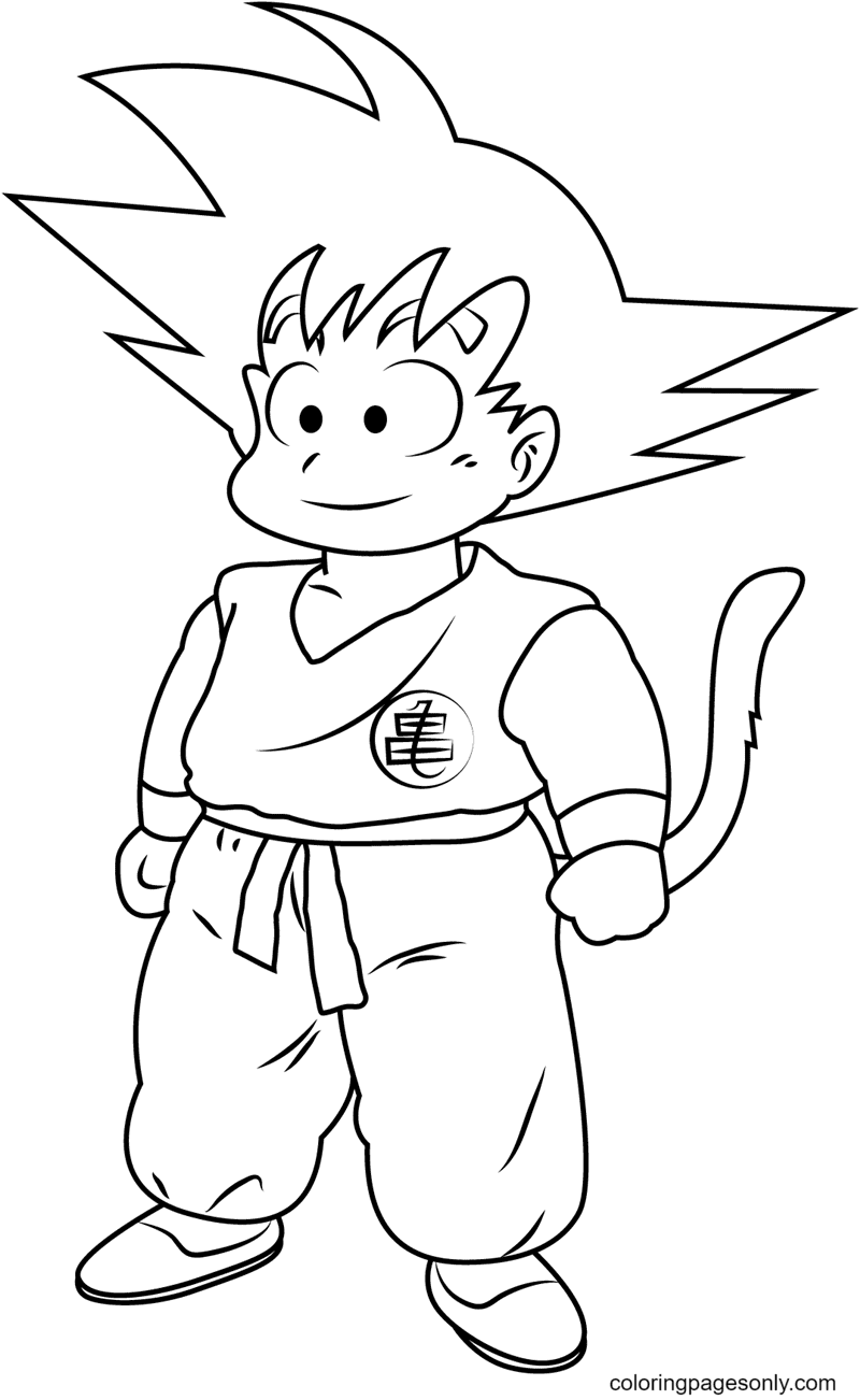 Goku in Dragon Ball Coloring Page