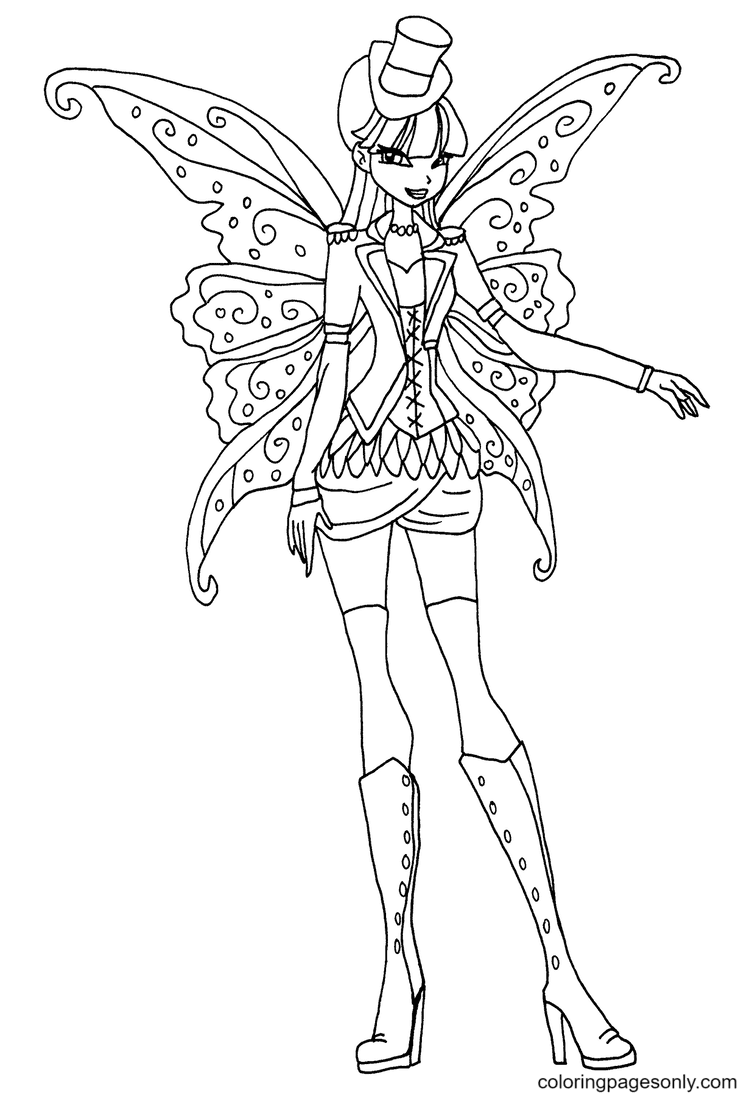 Gothic Musa Coloring Page