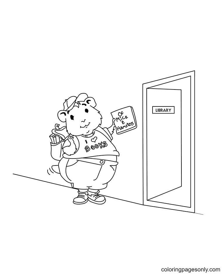 Hamster Big Coloring Page