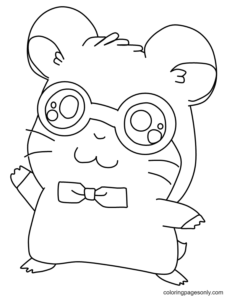 Hamster Boy Coloring Page