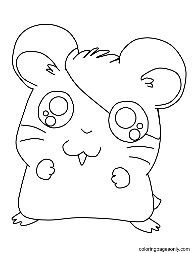 Hamster Cute Coloring Page