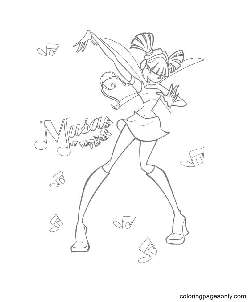 Happy Musa Coloring Page