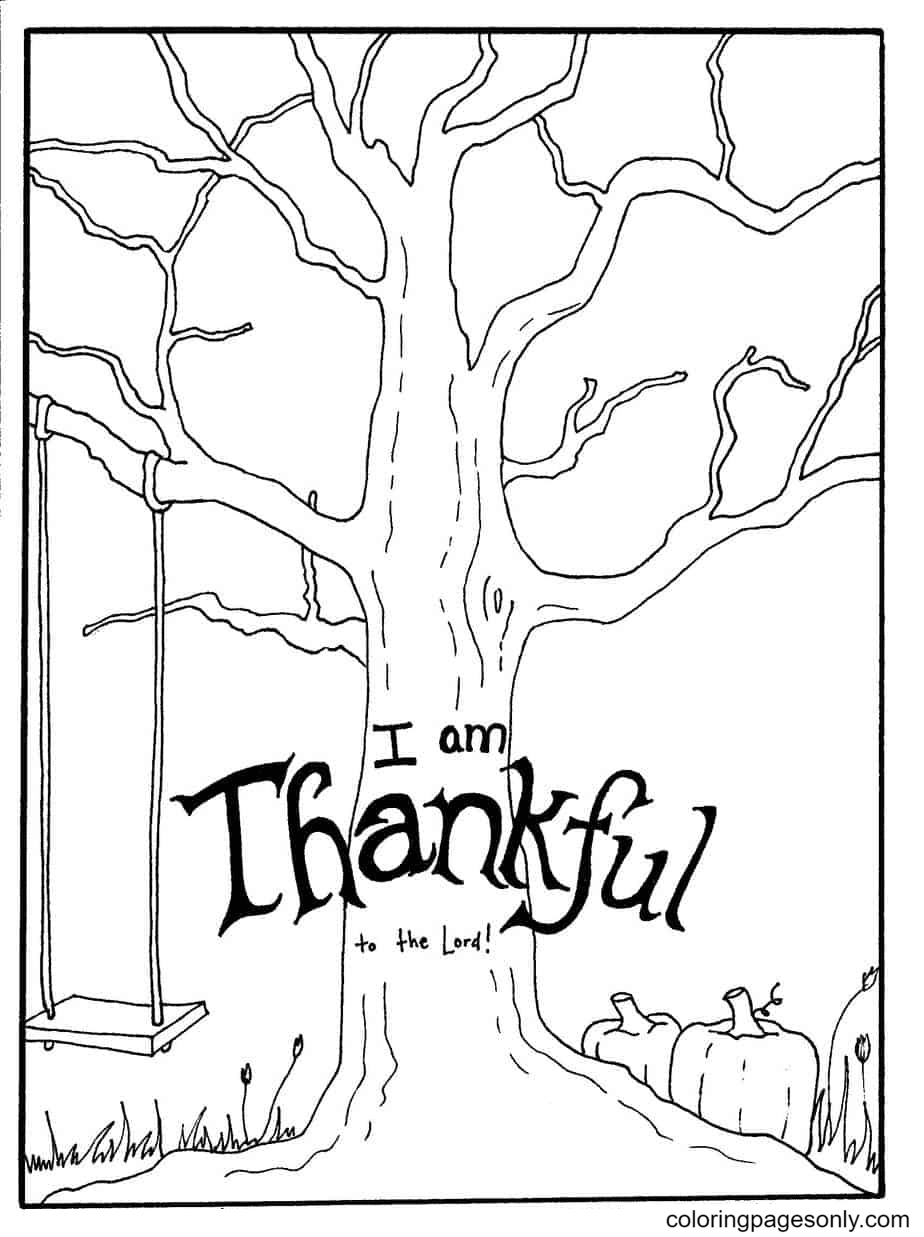 I am Thankful to the Lord Coloring Page