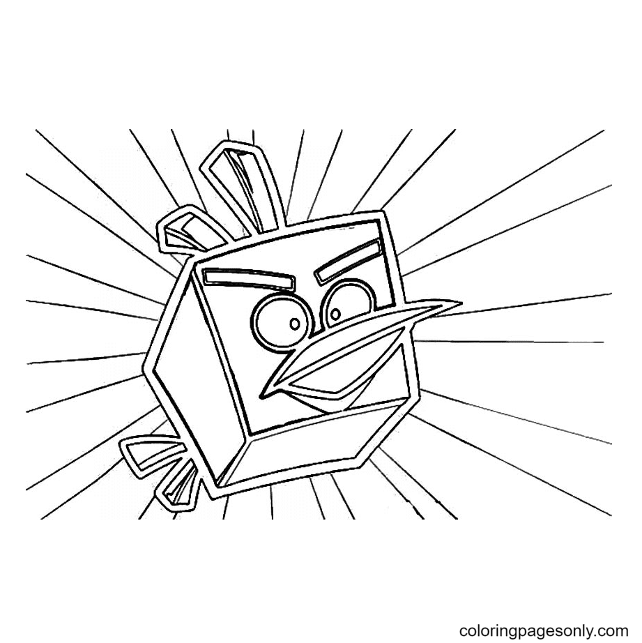 Ice Angry Bird Coloring Page
