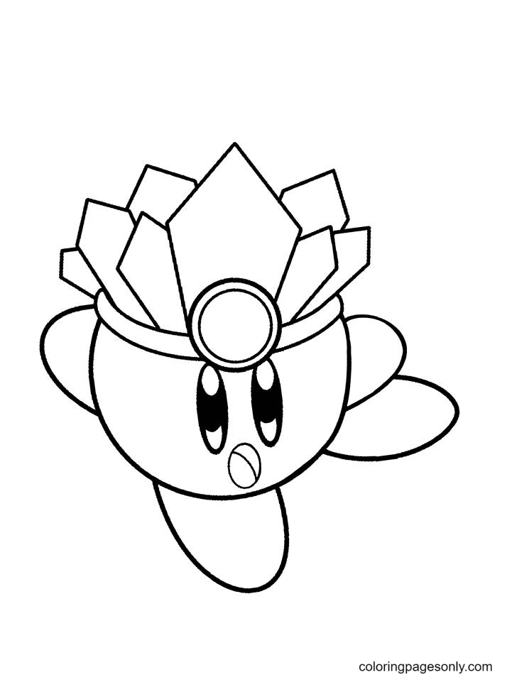 Ice Kirby Pictures Coloring Page
