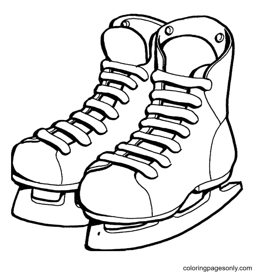 Ice Skating Shoes Coloring Page