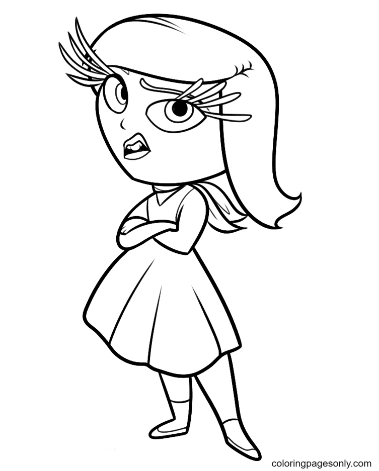 Inside Out Disgust Coloring Page