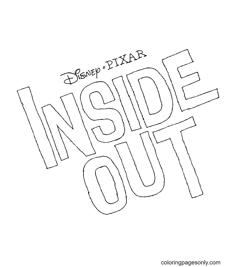 Inside Out Title Coloring Page