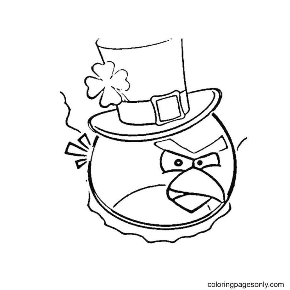 Irish Angry Bird Coloring Page