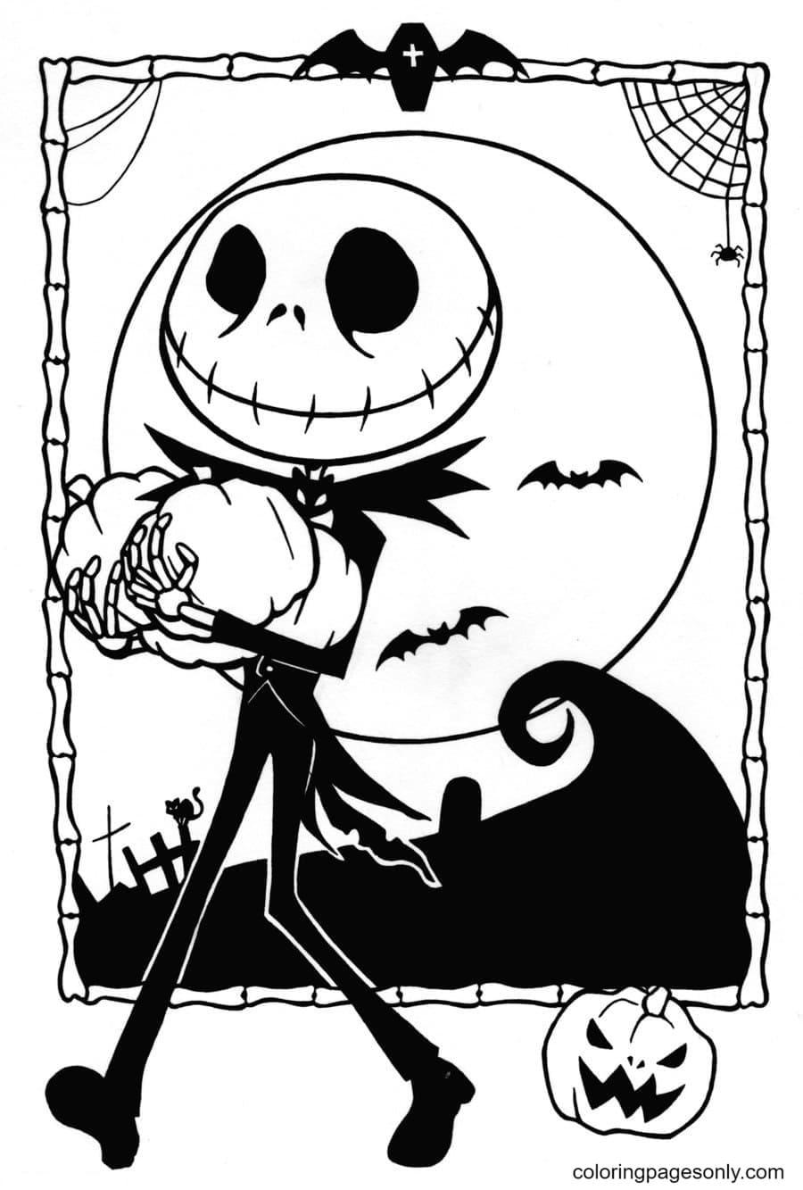Jack Skellington The Pumpkin King Coloring Page