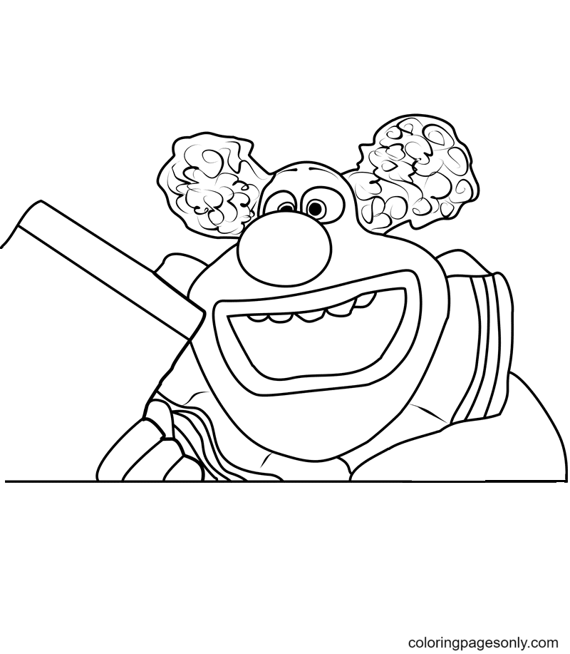 Jangles The Clown Coloring Page
