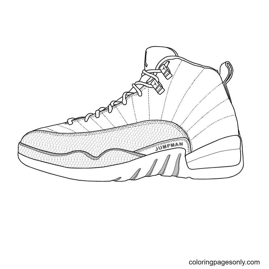 Jordan Shoes Coloring Page