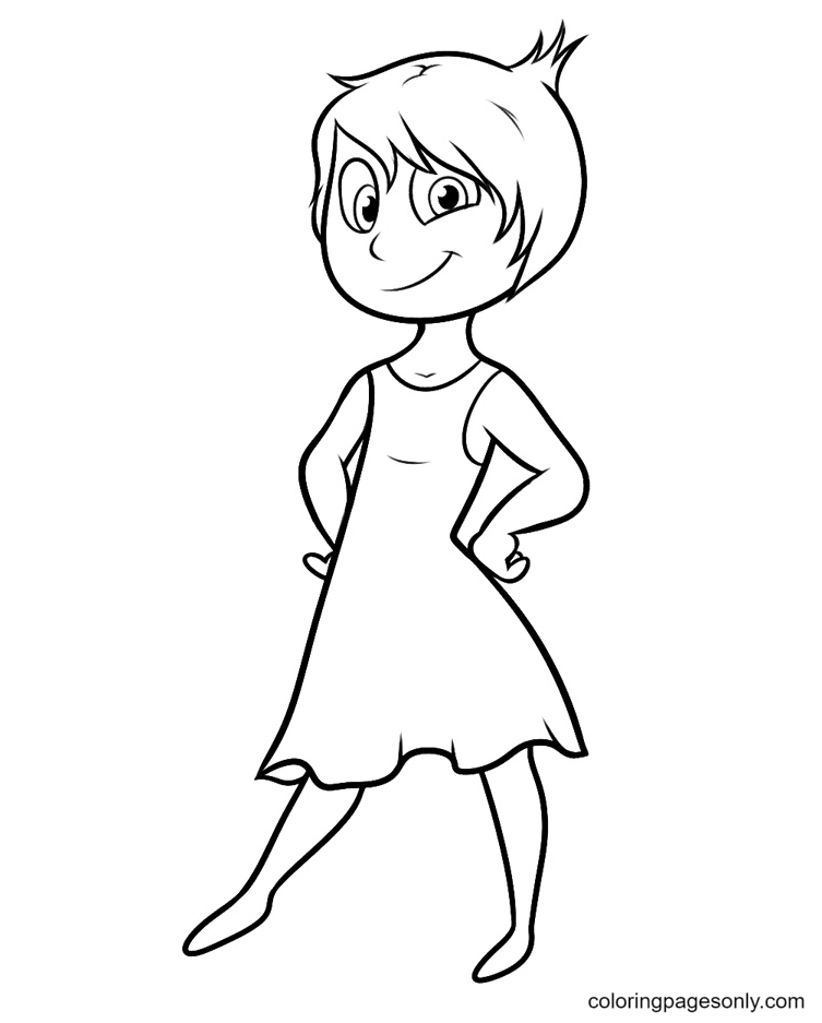 Joy Inside Out Beautiful Coloring Page