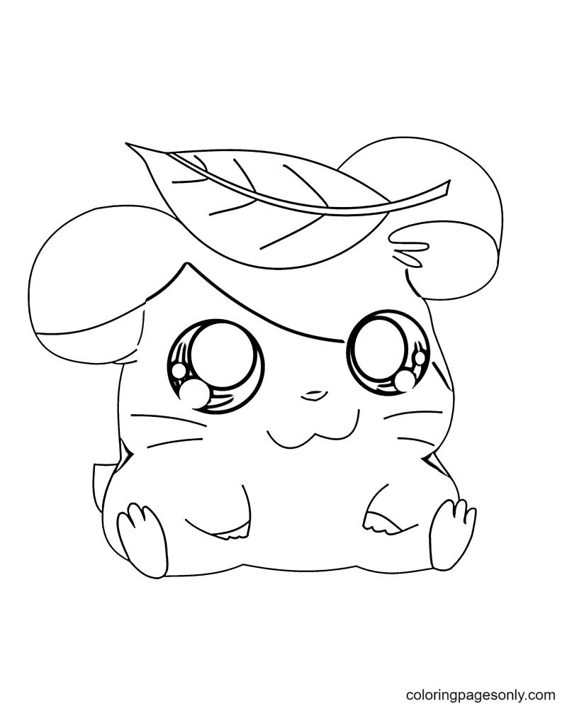 Joyful Hamster Coloring Page