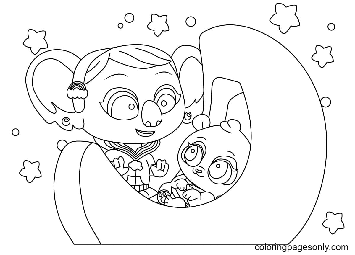 KC and Peggy Coloring Page