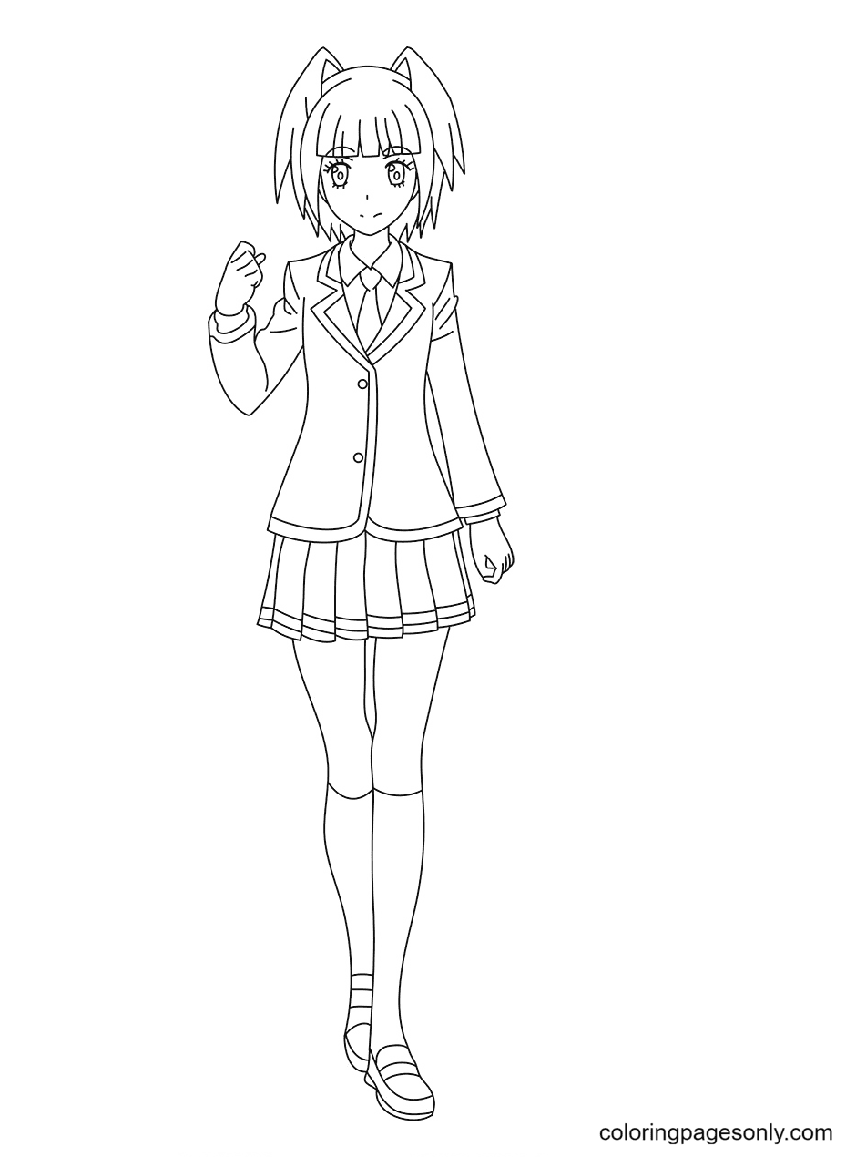 Kaede Kayano From Assassination Classroom Coloring Page