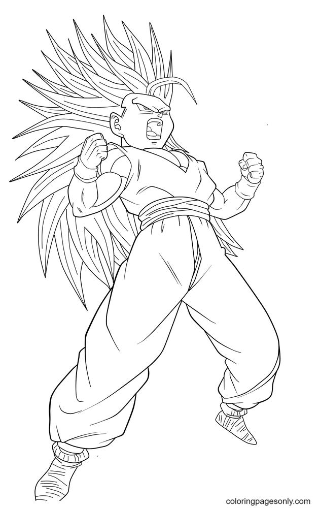 Kakarot – Dragon Ball Super Saiyan Coloring Page