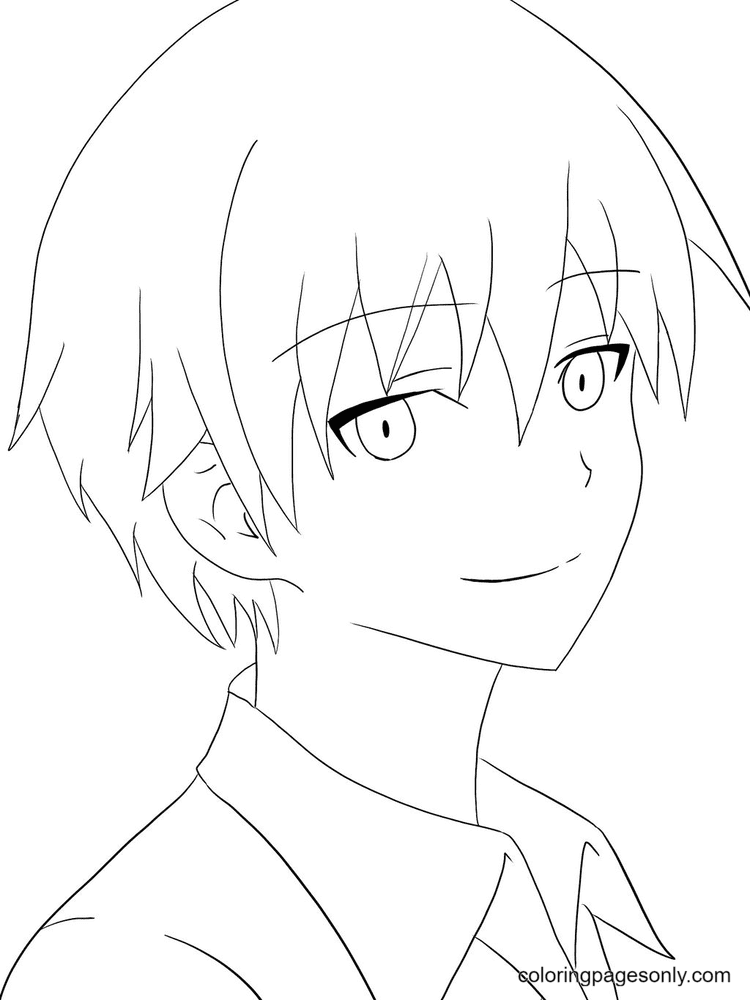 Karma Akabane From Assassination Classroom Coloring Page
