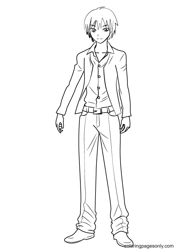 Karma From Assassination Classroom Coloring Page