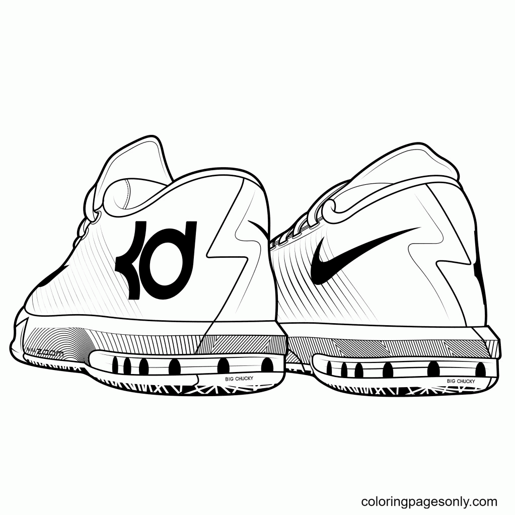 Kd Shoes Coloring Page