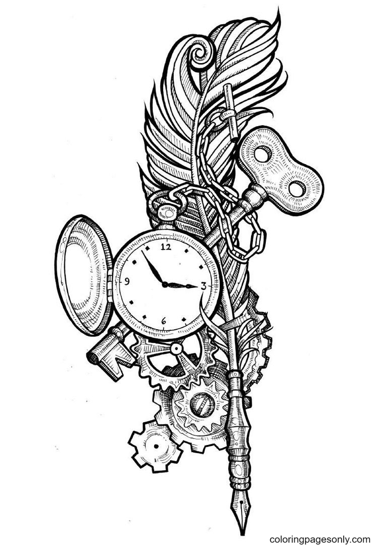 Key of Time Coloring Page