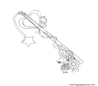 Key Coloring Page