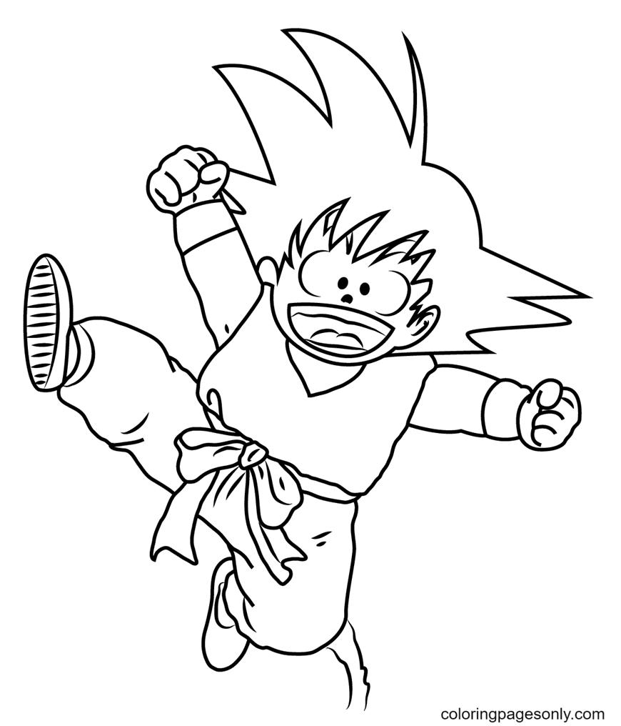 Kid Goku Coloring Page