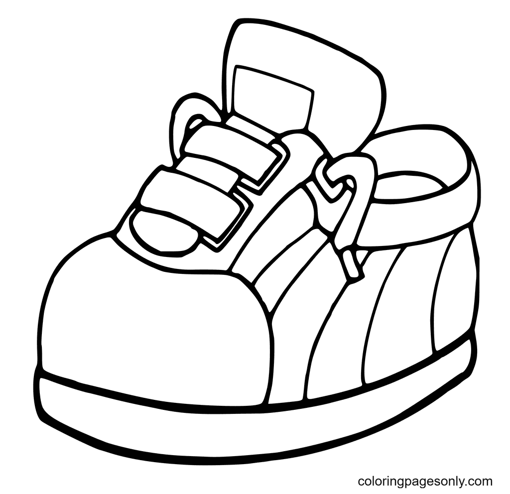 Kids Shoes Printable Coloring Page