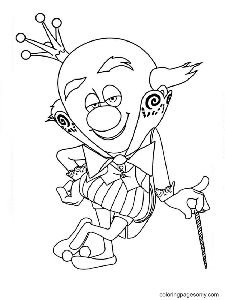 King Candy from Wreck It Ralph Coloring Page