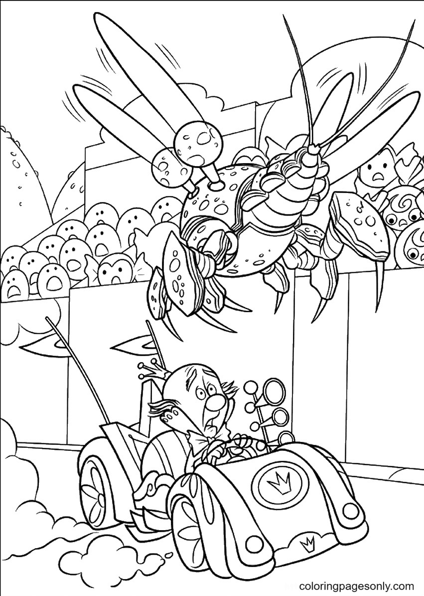 King Candy is blocked Coloring Page
