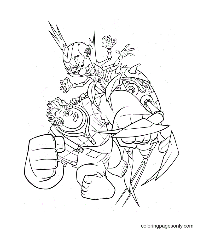 King Candy vs Ralph Coloring Page