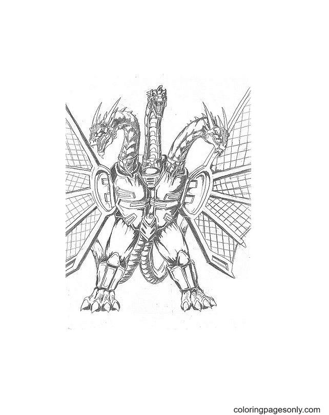 King Ghidorah Free Coloring Page