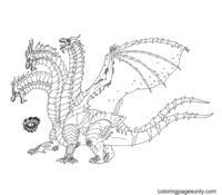 King Ghidorah Coloring Page