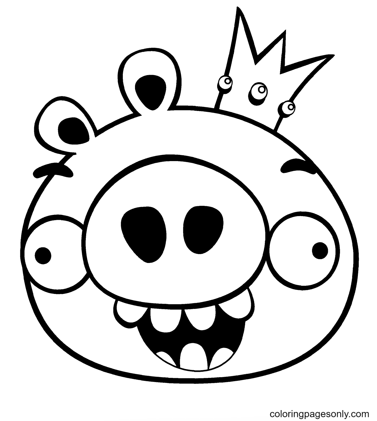 King Smoothcheeks Coloring Page