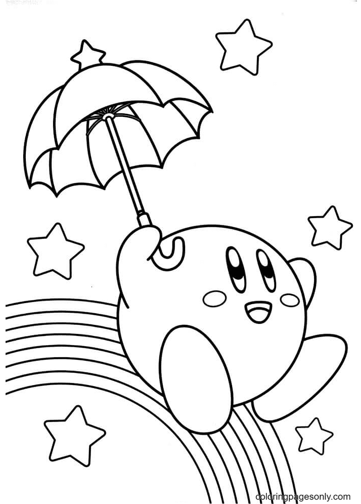 Kirby And The Rainbow Curse Coloring Page