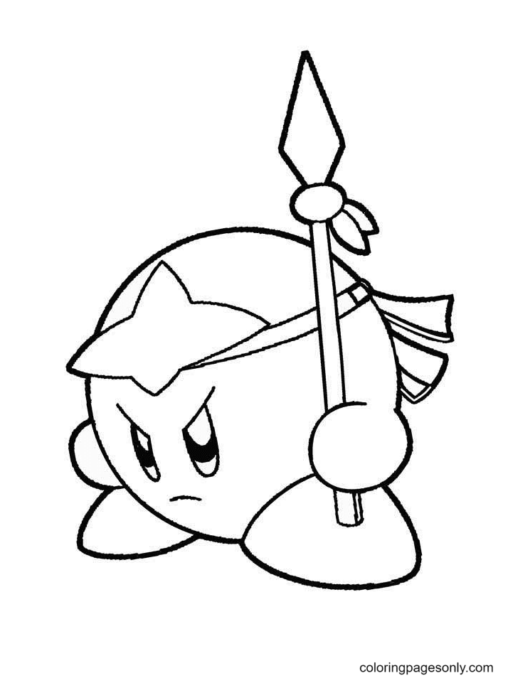 Kirby Fighting Coloring Pages