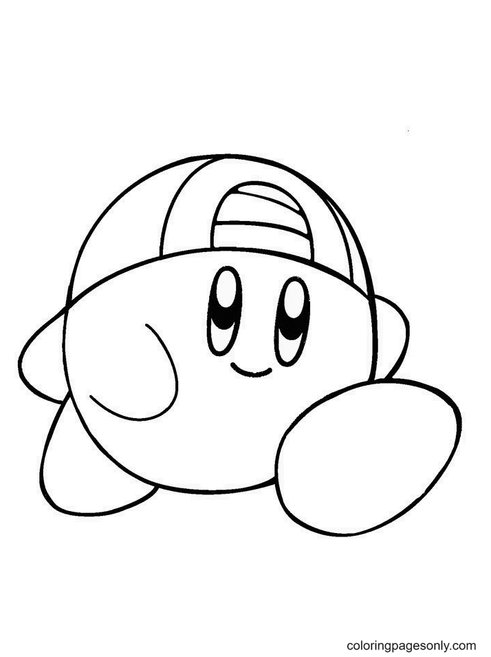 Kirby Pictures Coloring Page