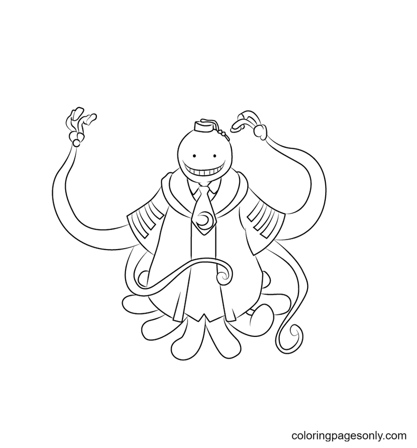 Koro Sensei From Assassination Classroom Coloring Page