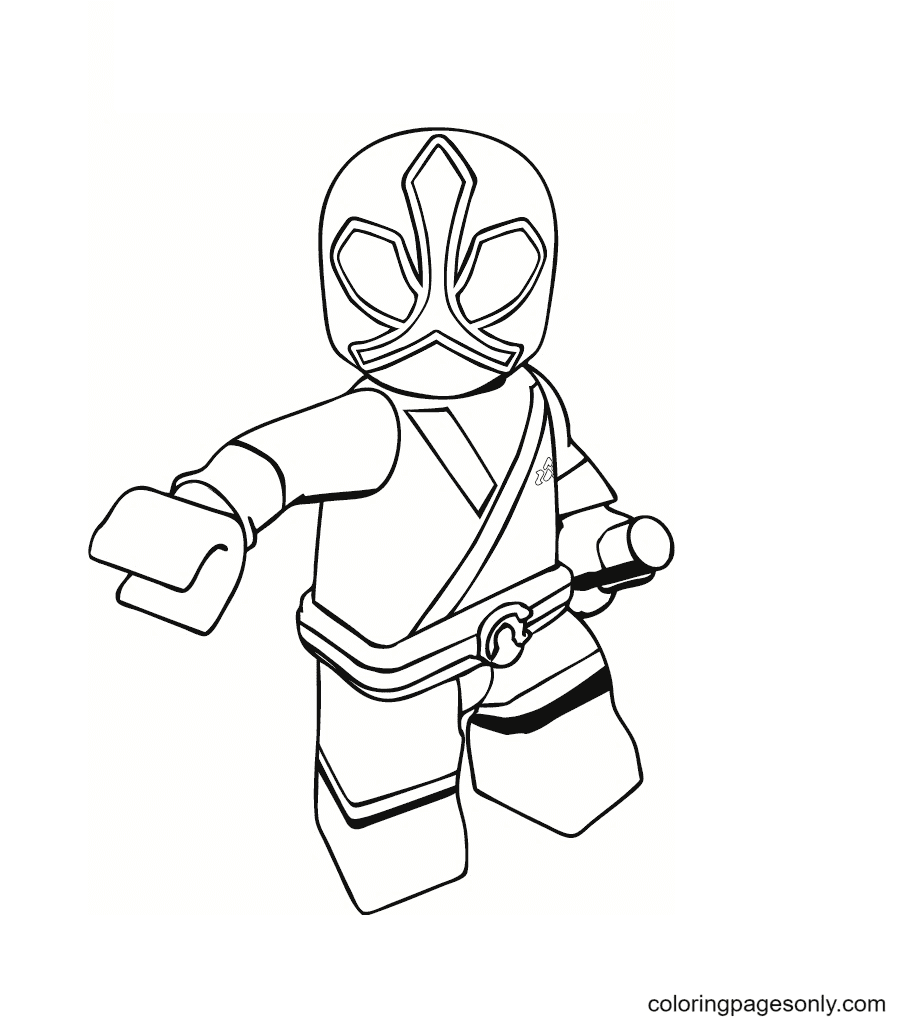 LEGO Power Rangers Coloring Page
