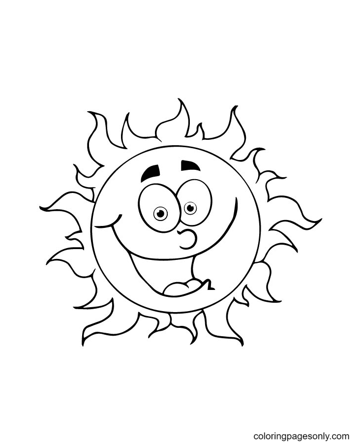 Laughing Sun Coloring Page