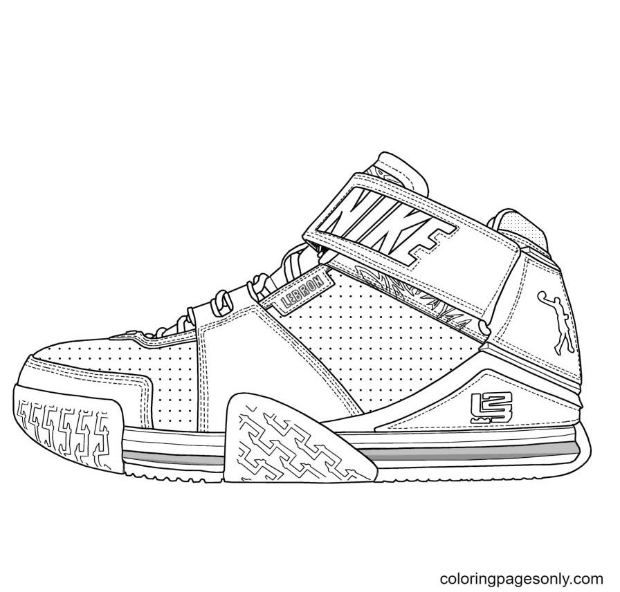 LeBron James Shoes Coloring Page