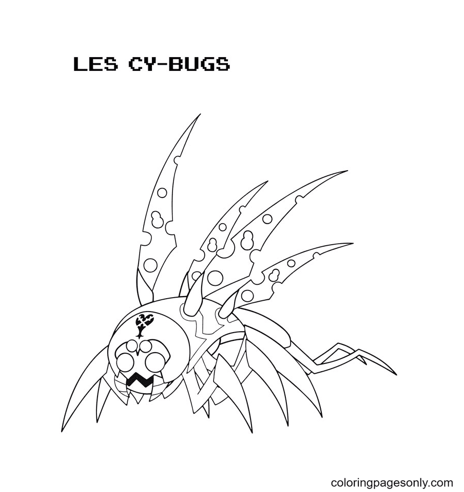 Les Cy Bugs Coloring Page