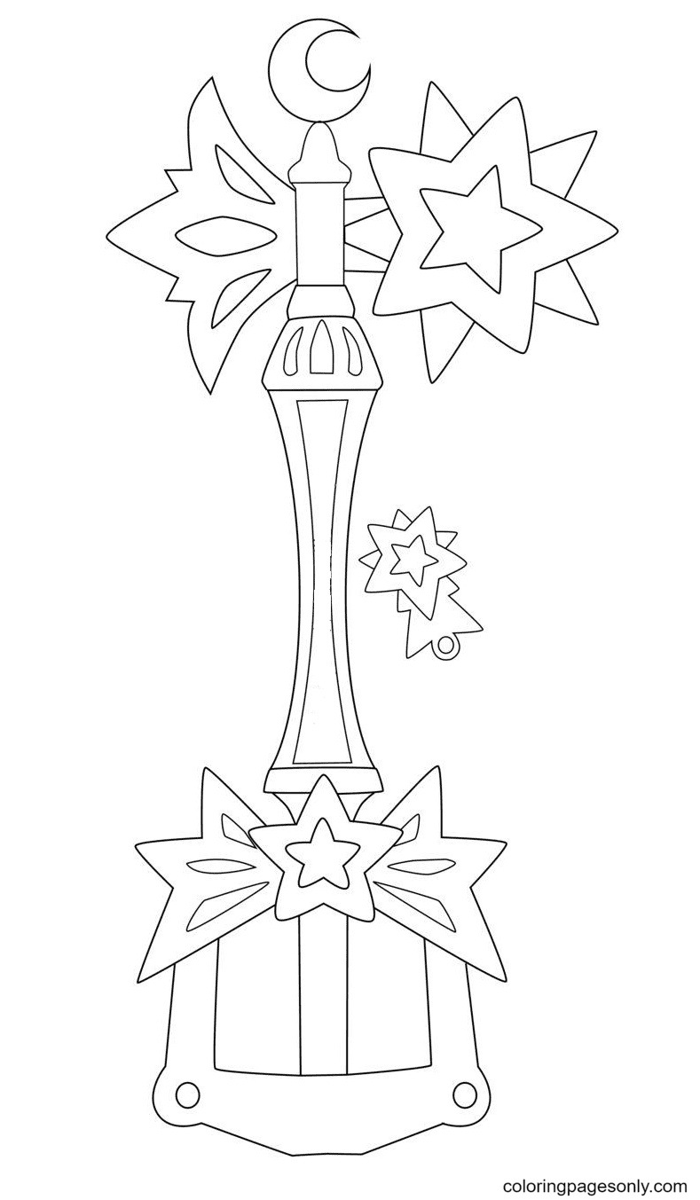 Light Star Key Coloring Page