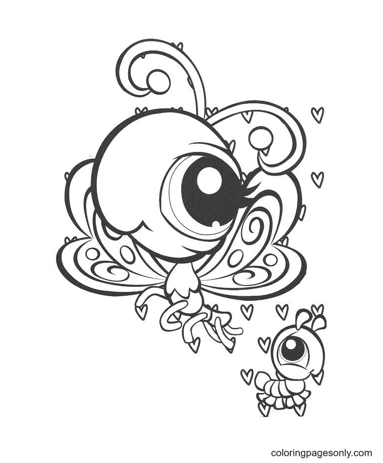 Littlest Pet Shop Butterfly Coloring Page