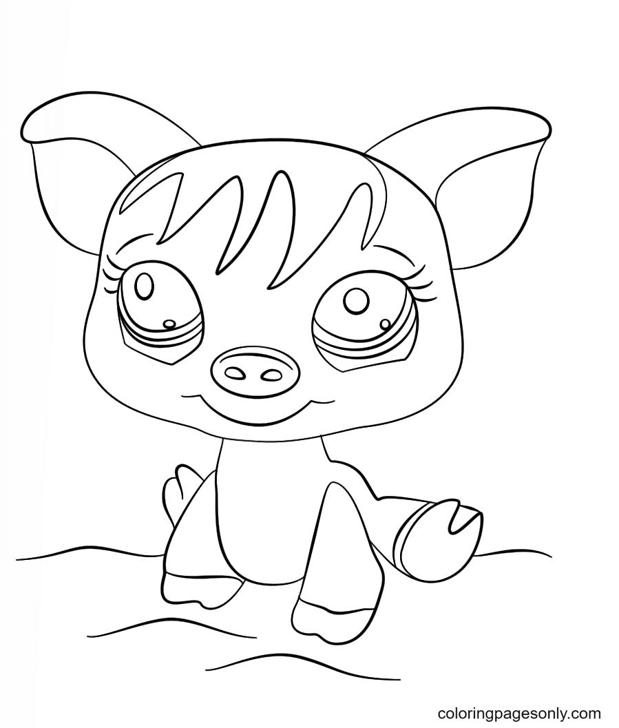 Littlest Pet Shop Pig Coloring Page