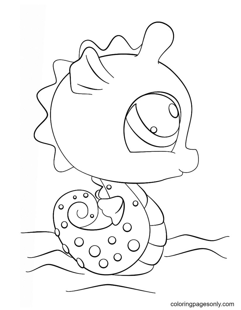 Littlest Pet Shop Seahorse Coloring Page