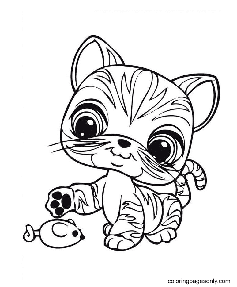 Littlest Pet Shop Tiger Coloring Page