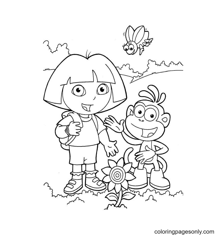 Look At The Sunflower Coloring Page