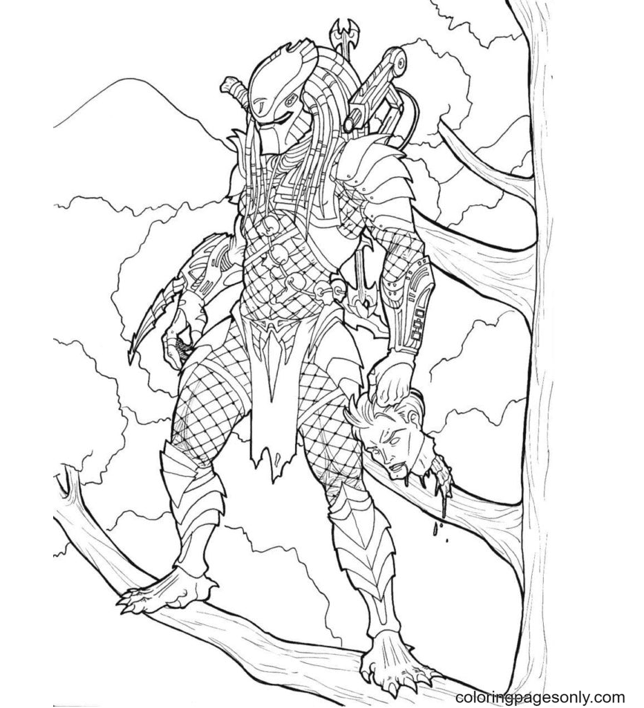 Lord Predator Coloring Page