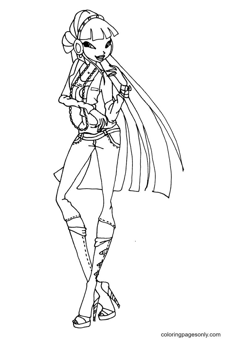 Lovely Musa Coloring Page
